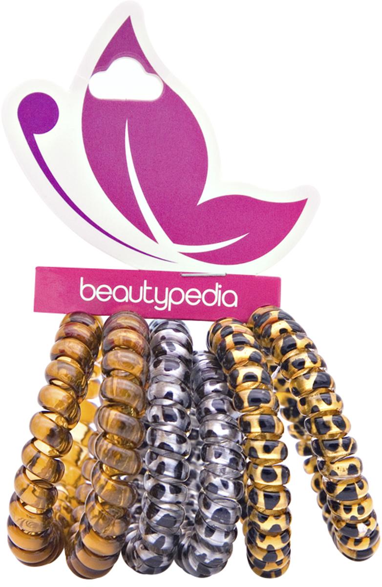 Beautypedia Набор резинок для волос, цвет: золотой, серебряный, коричневый, 6 шт6900888200124Яркие и модные резинки Beautypedia, благодаря своей форме не перетягивает волосы и не оставляет на них заломов, что очень важно для здоровья волос. Пружинка легко снимается с волос, так как поверхность ее идеально гладкая, а значит не выдергивает и не ломает волосы. Эта стильная резинка отлично держит волосы собранные в хвост или пучок, при этом не перетягивая и не вызывая дискомфорта. Резинка позволяет самостоятельно сделать множество различных причесок на любой случай, от обычного хвостика до красивых вечерних укладок. Продукт износостойкий и долговечный. Резинки сделаны из экологически чистых материалов.