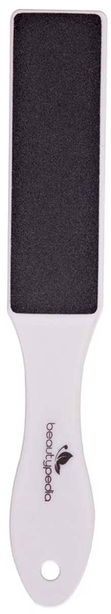 Beautypedia Терка для педикюра пластиковая, двухсторонняя. 69008882001796900888200179Терка для ног Beautypedia тонкая и легкая, эффективно удаляет огрубевшую кожу в труднодоступных местах стоп. Абразив на обеих сторонах терки имеет различную зернистость. Сторона с более крупной зернистостью необходима для первоначальной обработки кожи, более мелкий абразив применяется для завершающей стадии обработки. Для усиления эффекта рекомендуется предварительно размочить ноги в теплой воде. После применения терок кожа стопы становится гладкая, более мягкая и эластичная. Очистите кожу стоп от видимых загрязнений и мягкими массирующими движениями приступите к удалению огрубевших участков кожи (предварительно распарив кожу стоп).