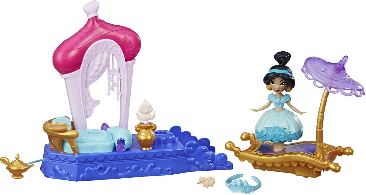 Disney Princess Мини-кукла и транспорт Жасмин куклы disney princess модная кукла принцесса в в юбке с проявляющимся принтом в ассорт