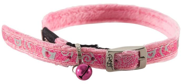 Ошейник для кошек Rogz SparkleCat , цвет: розовый, ширина 11 мм. Размер SCB52KОшейник с мягкой внутренней подкладкой.Специально разработанный замок легко расстегивается при натяжении, если это необходимо. Например, если ваш питомец застрял на дереве или на заборе.Каждый ошейник обладает уникальной системой, присущей только продукции Rogz для кошек, позволяющей регулировать степень легкости раскрытия замка при различных нагрузках на замок (в зависимости от размера).