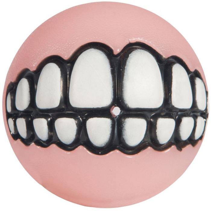 Мяч для собак Rogz Grinz. Зубы, с отверстием для лакомства, цвет: розовый. GR202XGR202XЛегендарные мячи Grinz поднимут настроение каждому!Игрушка, со смещённым центром тяжести устроена так, что собака всегда будет поднимать ее вверх зубами.Есть отверстие для лакомства.Мяч отлично подпрыгивает при играх.Изготовлено из особого термоэла-стопласта SEBS, обеспечивающего великолепную плавучесть в воде.