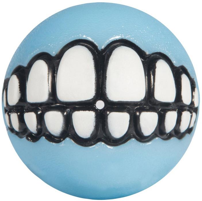 Мяч для собак Rogz Grinz. Зубы, с отверстием для лакомства, цвет: голубой. GR202YGR202YЛегендарные мячи Grinz поднимут настроение каждому!Игрушка, изготовленная из каучукасо смещённым центром тяжести устроена так, что собака всегда будет поднимать ее вверх зубами.Есть отверстие для лакомства.Мяч отлично подпрыгивает при играх.Изготовлено из особого термоэла-стопласта SEBS, обеспечивающего великолепную плавучесть в воде.