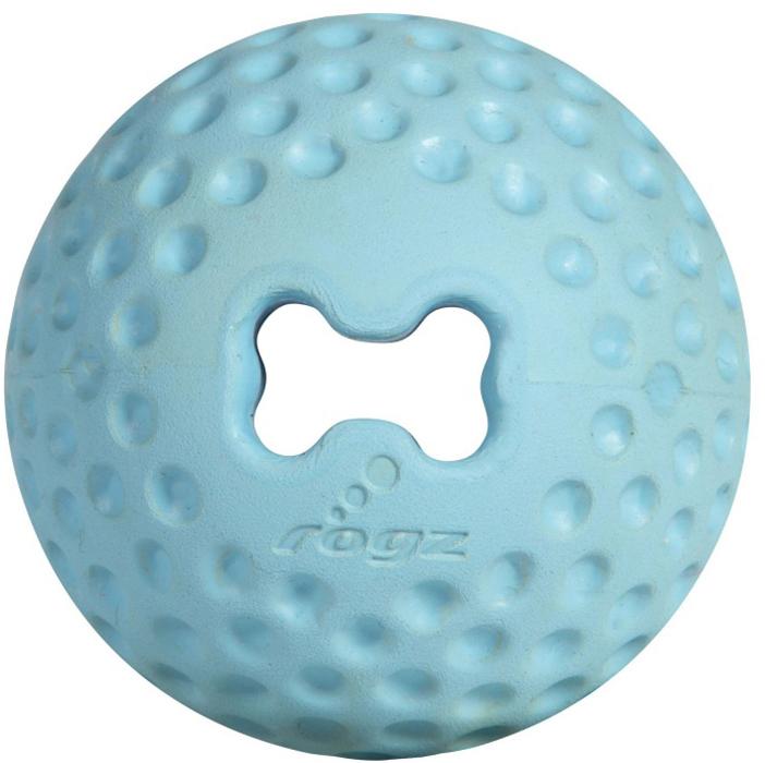 Мяч для собак Rogz Gumz, с отверстием для лакомства, цвет: голубой, диаметр 4,9 смGU201YИгрушка тренирует жевательные мышцы и массирует десны собаке. Отлично подходит для дрессировки, так как есть отверстие для лакомства.Отлично подпрыгивает при играх.Занимательная игрушка выдерживает долгое жевание и разгрызание.