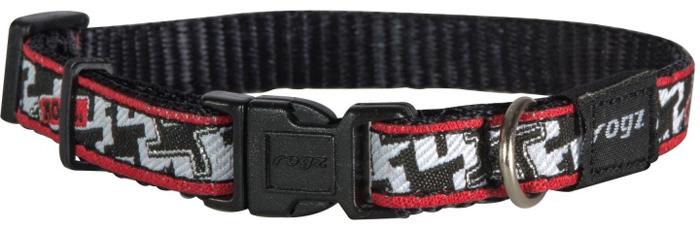 Ошейник для собак Rogz Fancy Dress, цвет: черный, белый, ширина 1,1 см. Размер SHB01BVОшейник для собак Rogzвыполнен из нейлона высокой прочности. Особое плетение полотна способствует увеличению уровня прочности и защиты. Специальная конструкция пряжки Rog Loc - очень крепкая (система Fort Knox). Замок может быть расстегнут только рукой человека. Технология распределения нагрузки позволяет снизить нагрузку на пряжки, изготовленные из титанового пластика, с помощью правильного и разумного расположения грузовых колец.