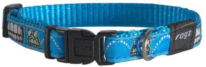 Ошейник для собак Rogz Fancy Dress, цвет: голубой, ширина 1,1 см. Размер S rogz ошейник для собак rogz alpinist s 11мм зеленый