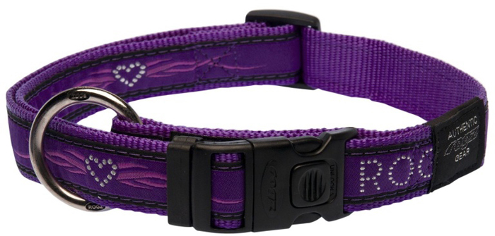 Ошейник для собак Rogz Fancy Dress, цвет: фиолетовый, ширина 2,5 см. Размер XLHB02BJОшейник для собак Rogzвыполнен из нейлона высокой прочности. Особое плетение полотна способствует увеличению уровня прочности и защиты. Специальная конструкция пряжки Rog Loc - очень крепкая (система Fort Knox). Замок может быть расстегнут только рукой человека. Технология распределения нагрузки позволяет снизить нагрузку на пряжки, изготовленные из титанового пластика, с помощью правильного и разумного расположения грузовых колец.