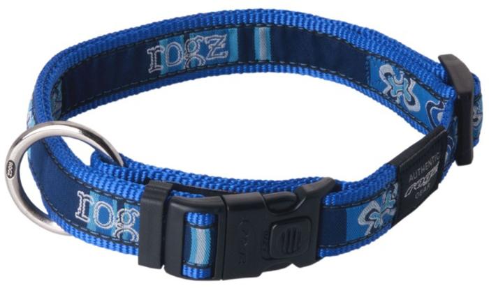 Ошейник для собак Rogz Fancy Dress, цвет: синий, ширина 2,5 см. Размер XL rogz ошейник для собак rogz alpinist s 11мм зеленый