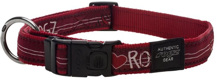 Ошейник для собак Rogz Fancy Dress, цвет: красный, ширина 2,5 см. Размер XLHB02BTОшейник для собак Rogzвыполнен из нейлона высокой прочности. Особое плетение полотна способствует увеличению уровня прочности и защиты. Специальная конструкция пряжки Rog Loc - очень крепкая (система Fort Knox). Замок может быть расстегнут только рукой человека. Технология распределения нагрузки позволяет снизить нагрузку на пряжки, изготовленные из титанового пластика, с помощью правильного и разумного расположения грузовых колец.