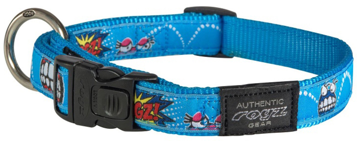 Ошейник для собак Rogz Fancy Dress, цвет: голубой, ширина 2 см. Размер L rogz ошейник для собак rogz alpinist s 11мм зеленый