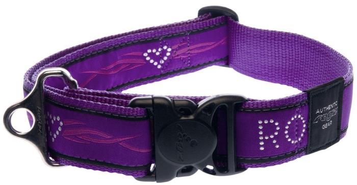 Ошейник для собак Rogz Fancy Dress, цвет: фиолетовый, ширина 4 см. Размер XXLHB04BJОшейник для собак Rogzвыполнен из нейлона высокой прочности. Особое плетение полотна способствует увеличению уровня прочности и защиты. Специальная конструкция пряжки Rog Loc - очень крепкая (система Fort Knox). Замок может быть расстегнут только рукой человека. Технология распределения нагрузки позволяет снизить нагрузку на пряжки, изготовленные из титанового пластика, с помощью правильного и разумного расположения грузовых колец.