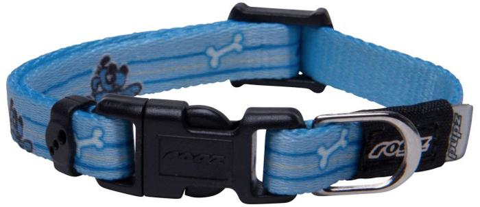 Ошейник для собак Rogz Yo Yo, цвет: голубой, ширина 8 мм. Размер XS rogz ошейник для собак rogz alpinist s 11мм зеленый