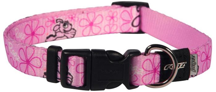 Ошейник для собак Rogz Yo Yo, цвет: розовый, ширина 1,6 см. Размер M rogz ошейник для собак rogz alpinist s 11мм зеленый