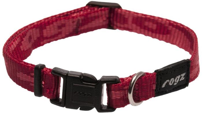 Ошейник для собак Rogz Alpinist, цвет: красный, ширина 1,1 см. Размер S rogz адресник на ошейник для собак rogz fancy dress синий l 34 мм