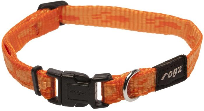 Ошейник для собак Rogz Alpinist, цвет: оранжевый, ширина 1,1 см. Размер SHB21DОшейник для собак Rogz выполнен из нейлона высокой прочности. Особое плетение полотна способствует увеличению уровня прочности и защиты. Специальная конструкция пряжки Rog Loc - очень крепкая (система Fort Knox). Замок может быть расстегнут только рукой человека. Технология распределения нагрузки позволяет снизить нагрузку на пряжки, изготовленные из титанового пластика, с помощью правильного и разумного расположения грузовых колец.
