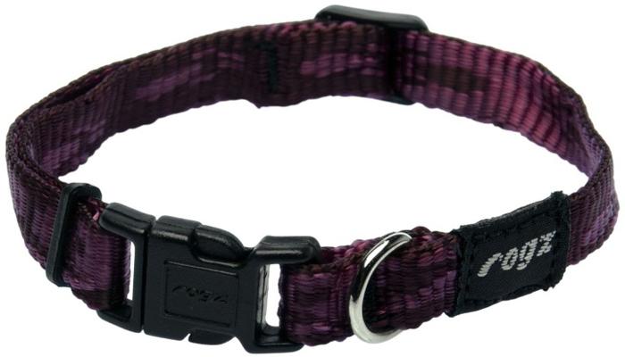 Ошейник для собак Rogz Alpinist, цвет: фиолетовый, ширина 1,1 см. Размер S rogz ошейник для собак rogz alpinist s 11мм зеленый