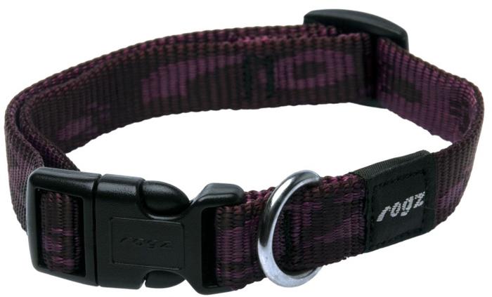 Ошейник для собак Rogz Alpinist, цвет: фиолетовый, ширина 1,6 см. Размер M полуудавка для собак rogz alpinist цвет золотистый ширина 6 см размер l