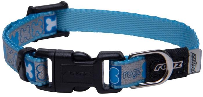 Ошейник для собак Rogz Reflecto, цвет: голубой, ширина 8 мм. Размер XSHB240YМягкость и гибкость.Специально подобранный дизайн для щенков.Система анти-коготь.Видимость ночью. Светоотражающая нить, вплетенная в нейлоновую ленту - для обеспечения лучшей видимости собаки в темное время суток.Материал пряжек: ацетиловый пластик, цинковое литье под давлением. Полотно: нейлоновая тесьма, светоотражающая нить.