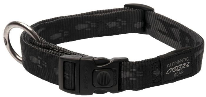 Ошейник для собак Rogz Alpinist, цвет: черный, ширина 2 см. Размер L rogz ошейник для собак rogz alpinist s 11мм зеленый