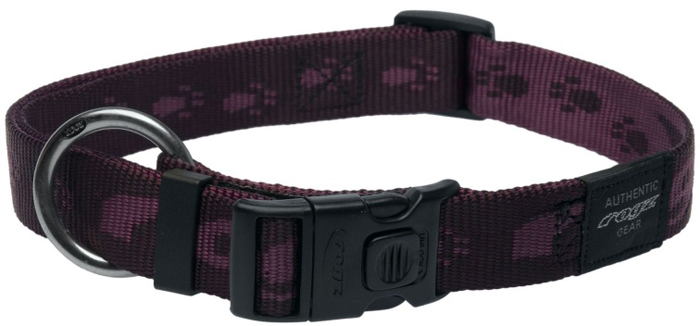 Ошейник для собак Rogz Alpinist, цвет: фиолетовый, ширина 2,5 см. Размер XL rogz ошейник для собак rogz alpinist s 11мм зеленый