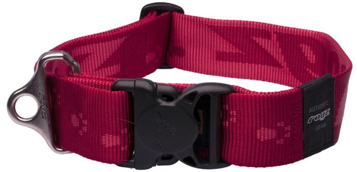 Ошейник для собак Rogz Alpinist, цвет: красный, ширина 4 см. Размер XXLHB29CОшейник для собак Rogz выполнен из нейлона высокой прочности. Особое плетение полотна способствует увеличению уровня прочности и защиты. Специальная конструкция пряжки Rog Loc - очень крепкая (система Fort Knox). Замок может быть расстегнут только рукой человека. Технология распределения нагрузки позволяет снизить нагрузку на пряжки, изготовленные из титанового пластика, с помощью правильного и разумного расположения грузовых колец.