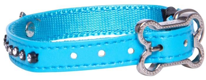 Ошейник для собак Rogz Luna, цвет: голубой, ширина 1,1 см. Размер XSHB500BОшейник для собак Rogz выполнен из кожи на основе полиуретана высокой прочности. Особое плетение полотна способствует увеличению уровня прочности и защиты. Специальная конструкция пряжки Rog Loc - очень крепкая (система Fort Knox). Замок может быть расстегнут только рукой человека. Технология распределения нагрузки позволяет снизить нагрузку на пряжки, изготовленные из титанового пластика, с помощью правильного и разумного расположения грузовых колец.
