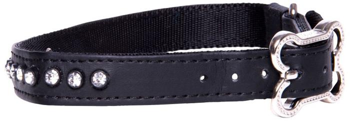 Ошейник для собак Rogz Luna, цвет: черный, ширина 1,6 см. Размер MHB503AОшейник для собак Rogzвыполнен из кожи на основе полиуретана высокой прочности. Особое плетение полотна способствует увеличению уровня прочности и защиты. Специальная конструкция пряжки Rog Loc - очень крепкая (система Fort Knox). Замок может быть расстегнут только рукой человека. Технология распределения нагрузки позволяет снизить нагрузку на пряжки, изготовленные из титанового пластика, с помощью правильного и разумного расположения грузовых колец.