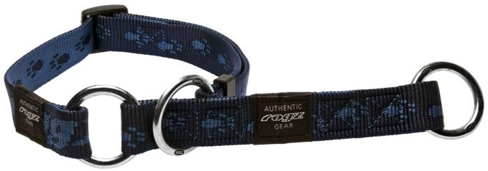 Полуудавка для собак Rogz Alpinist, цвет: синий, ширина 2 см. Размер LHBC25BВысококачественные ленты ROGZ - мягкие в руках, но обладают высокой прочностью. Особое плетение полотна способствует увеличению уровня прочности и защиты. Специальная конструкция пряжки Rog Loc - очень крепкая (система Fort Knox). Замок может быть расстегнут только рукой человека. Технология распределения нагрузки позволяет снизить нагрузку на пряжки, изготовленные из титанового пластика, с помощью правильного и разумного расположения грузовых колец.Особые контурные пластиковые компоненты. Специальная округлая форма конструкции позволяет ошейнику комфортно облегать шею собаки. Выполненные специально по заказу ROGZ литые кольца гальванически хромированы, что позволяет избежать коррозии и потускнения изделия.