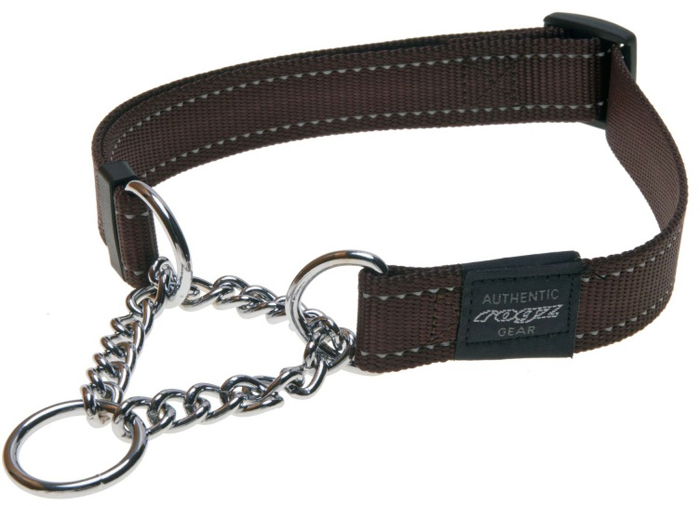 Полуудавка для собак Rogz Utility, цвет: коричневый, ширина 2,5 см. Размер XL rogz шлейка для собак rogz utility xl 25мм оранжевый