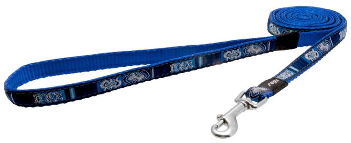 Поводок для собак Rogz Fancy Dress, цвет: синий, ширина 1,1 см. Размер S. HL01BP поводок для собак rogz utility цвет желтый ширина 1 1 см размер s