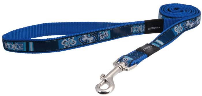 Поводок для собак Rogz  Fancy Dress , цвет: синий, ширина 2 см. Размер L - Товары для прогулки и дрессировки (амуниция)
