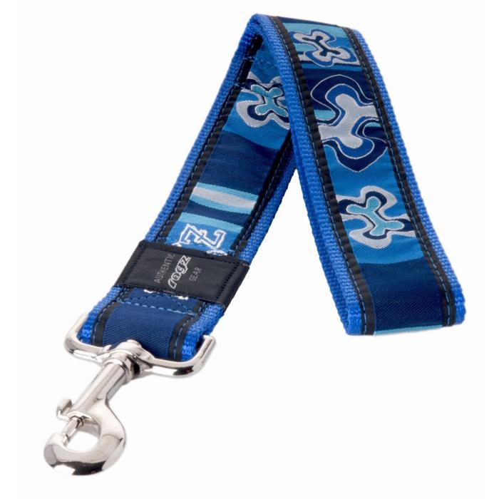 Поводок для собак Rogz  Fancy Dress , цвет: синий, ширина 4 см. Размер XXL. HL04BP - Товары для прогулки и дрессировки (амуниция)