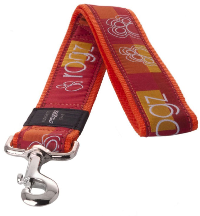 Поводок для собак Rogz  Fancy Dress , цвет: оранжевый, ширина 4 см. Размер XXL - Товары для прогулки и дрессировки (амуниция)