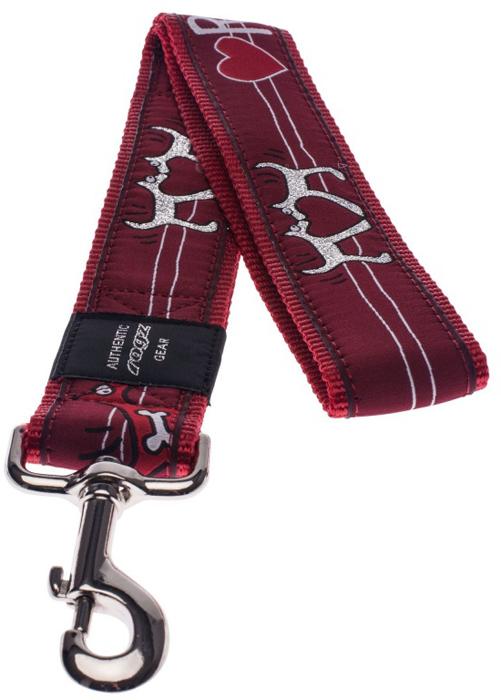 Поводок для собак Rogz Fancy Dress, цвет: красный, ширина 4 см. Размер XXL. HL04BT нaконечники литые нa свaи