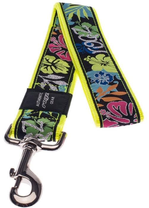 Поводок для собак Rogz Fancy Dress, цвет: черный, ширина 4 см. Размер XXL. HL04BUHL04BUНеобычный дизайн. Широкая гамма потрясающе красивых орнаментов на прочной тесьме поверх нейлоновой ленты украсит вашего питомца.Необыкновенно крепкий и прочный поводок.Выполненные по заказу литые кольца выдерживают значительные физические нагрузки и имеют хромирование, нанесенное гальваническим способом, что позволяет избежать коррозии и потускнения изделия.