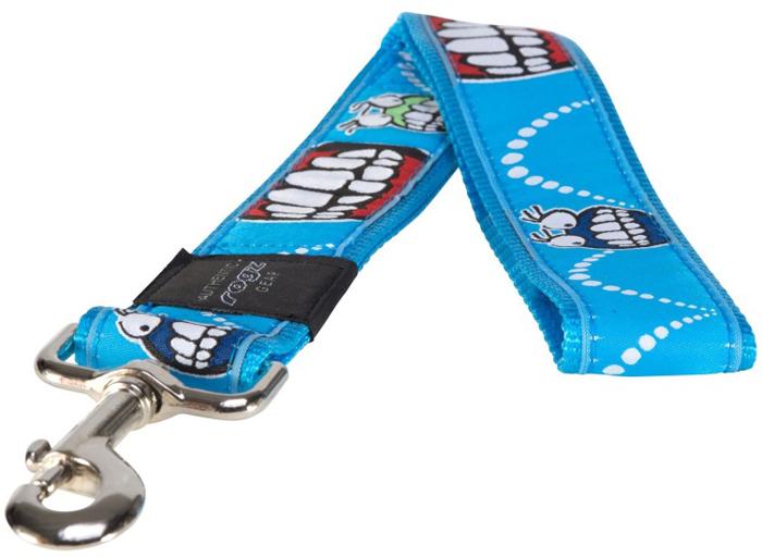 Поводок для собак Rogz Fancy Dress, цвет: голубой, ширина 4 см. Размер XXLHL04BXНеобычный дизайн. Широкая гамма потрясающе красивых орнаментов на прочной тесьме поверх нейлоновой ленты украсит вашего питомца.Необыкновенно крепкий и прочный поводок.Выполненные по заказу литые кольца выдерживают значительные физические нагрузки и имеют хромирование, нанесенное гальваническим способом, что позволяет избежать коррозии и потускнения изделия.