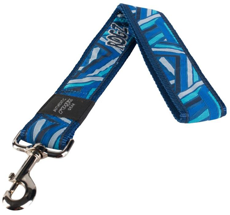 Поводок для собак Rogz Fancy Dress, цвет: синий, ширина 4 см. Размер XXL. HL04CDHL04CDНеобычный дизайн. Широкая гамма потрясающе красивых орнаментов на прочной тесьме поверх нейлоновой ленты украсит Вашего питомца.Необыкновенно крепкий и прочный поводок.Выполненные по заказу литые кольца выдерживают значительные физические нагрузки и имеют хромирование, нанесенное гальваническим способом, что позволяет избежать коррозии и потускнения изделия.