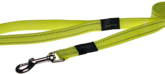 Поводок для собак Rogz Utility , цвет: желтый, ширина 2,5 см. Размер XLHL05HВидимость ночью. Светоотражающая нить, вплетенная в нейлоновую ленту - для обеспечения лучшей видимости собаки в темное время суток. Специальная конструкция пряжки Rog Loc - очень крепкая (система Fort Knox). Замок может быть расстегнут только рукой человека. Технология распределения нагрузки позволяет снизить нагрузку на пряжки, изготовленные из титанового пластика, с помощью правильного и разумного расположения грузовых колец, благодаря чему, даже при самых сильных рывках, изделие не рвется и не деформируется.Выполненные специально по заказу ROGZ литые кольца гальванически хромированы, что позволяет избежать коррозии и потускнения изделия.