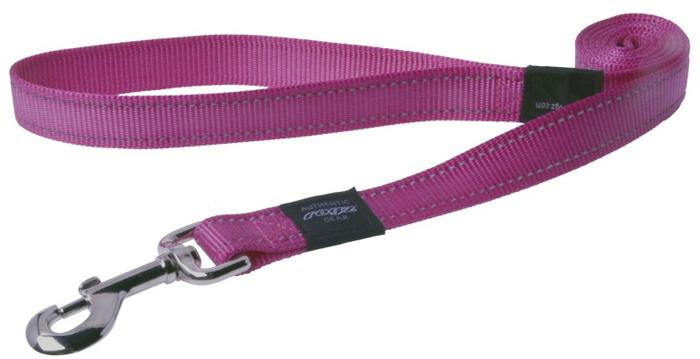 Поводок для собак Rogz Utility , цвет: розовый, ширина 2,5 см. Размер XLHL05KВидимость ночью. Светоотражающая нить, вплетенная в нейлоновую ленту - для обеспечения лучшей видимости собаки в темное время суток. Специальная конструкция пряжки Rog Loc - очень крепкая (система Fort Knox). Замок может быть расстегнут только рукой человека. Технология распределения нагрузки позволяет снизить нагрузку на пряжки, изготовленные из титанового пластика, с помощью правильного и разумного расположения грузовых колец, благодаря чему, даже при самых сильных рывках, изделие не рвется и не деформируется.Выполненные специально по заказу ROGZ литые кольца гальванически хромированы, что позволяет избежать коррозии и потускнения изделия.