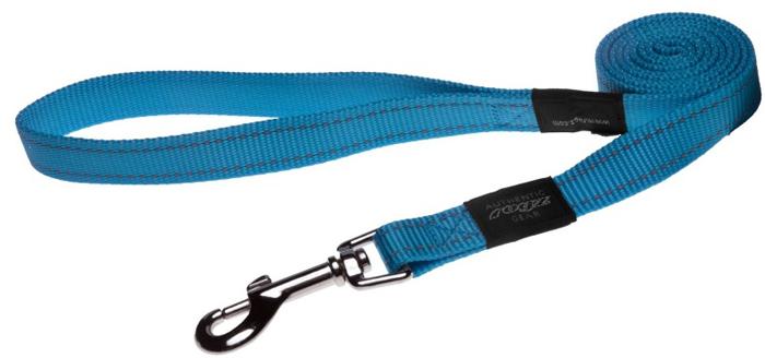 Поводок для собак Rogz Utility , цвет: голубой, ширина 2 см. Размер LHL06FВидимость ночью. Светоотражающая нить, вплетенная в нейлоновую ленту - для обеспечения лучшей видимости собаки в темное время суток. Специальная конструкция пряжки Rog Loc - очень крепкая (система Fort Knox). Замок может быть расстегнут только рукой человека. Технология распределения нагрузки позволяет снизить нагрузку на пряжки, изготовленные из титанового пластика, с помощью правильного и разумного расположения грузовых колец, благодаря чему, даже при самых сильных рывках, изделие не рвется и не деформируется.Выполненные специально по заказу ROGZ литые кольца гальванически хромированы, что позволяет избежать коррозии и потускнения изделия.
