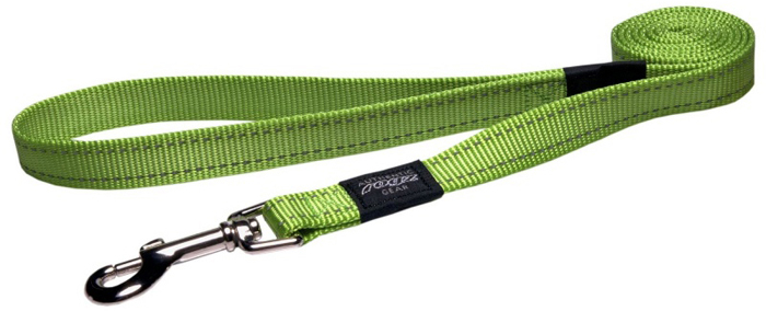 Поводок для собак Rogz Utility , цвет: зеленый, ширина 2 см. Размер LHL06LВидимость ночью. Светоотражающая нить, вплетенная в нейлоновую ленту - для обеспечения лучшей видимости собаки в темное время суток. Специальная конструкция пряжки Rog Loc - очень крепкая (система Fort Knox). Замок может быть расстегнут только рукой человека. Технология распределения нагрузки позволяет снизить нагрузку на пряжки, изготовленные из титанового пластика, с помощью правильного и разумного расположения грузовых колец, благодаря чему, даже при самых сильных рывках, изделие не рвется и не деформируется.Выполненные специально по заказу ROGZ литые кольца гальванически хромированы, что позволяет избежать коррозии и потускнения изделия.