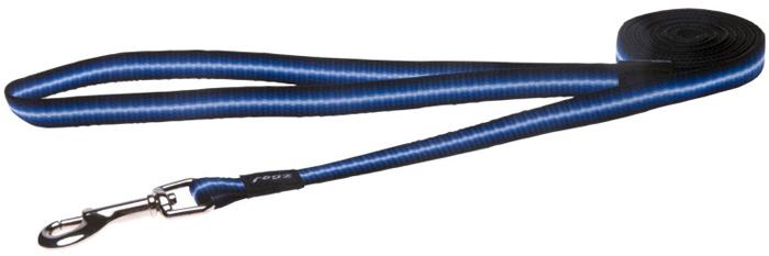 Поводок для собак Rogz Pavement, цвет: синий, ширина 1,1 см. Размер SHL10BПоводок изготовлен из очень мягкого, но прочного нейлона, который не причинит неудобства собаке. Высококачественная тесьма особого плетения, удивительно мягкая на ощупь.Все соединения деталей имеют специальную дополнительную строчку для большей прочности.Выполненные по заказу литые кольца выдерживают значительные физические нагрузки и имеют хромирование, нанесенное гальваническим способом, что позволяет избежать коррозии и потускнения изделия.