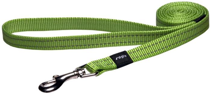 Поводок для собак Rogz Utility , цвет: зеленый, ширина 1,6 см. Размер MHL11LВидимость ночью. Светоотражающая нить, вплетенная в нейлоновую ленту - для обеспечения лучшей видимости собаки в темное время суток. Специальная конструкция пряжки Rog Loc - очень крепкая (система Fort Knox). Замок может быть расстегнут только рукой человека. Технология распределения нагрузки позволяет снизить нагрузку на пряжки, изготовленные из титанового пластика, с помощью правильного и разумного расположения грузовых колец, благодаря чему, даже при самых сильных рывках, изделие не рвется и не деформируется.Выполненные специально по заказу ROGZ литые кольца гальванически хромированы, что позволяет избежать коррозии и потускнения изделия.