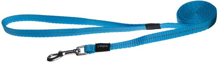Поводок для собак Rogz Utility , цвет: голубой, ширина 1,1 см. Размер SHL14FВидимость ночью. Светоотражающая нить, вплетенная в нейлоновую ленту - для обеспечения лучшей видимости собаки в темное время суток. Специальная конструкция пряжки Rog Loc - очень крепкая (система Fort Knox). Замок может быть расстегнут только рукой человека. Технология распределения нагрузки позволяет снизить нагрузку на пряжки, изготовленные из титанового пластика, с помощью правильного и разумного расположения грузовых колец, благодаря чему, даже при самых сильных рывках, изделие не рвется и не деформируется.Выполненные специально по заказу ROGZ литые кольца гальванически хромированы, что позволяет избежать коррозии и потускнения изделия.