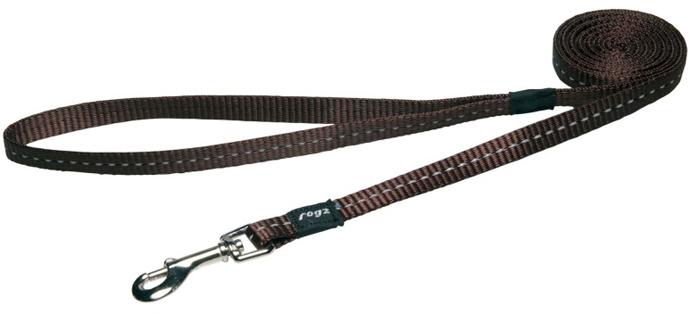 Поводок для собак Rogz Utility , цвет: коричневый, ширина 1,1 см. Размер SHL14JВидимость ночью. Светоотражающая нить, вплетенная в нейлоновую ленту - для обеспечения лучшей видимости собаки в темное время суток. Специальная конструкция пряжки Rog Loc - очень крепкая (система Fort Knox). Замок может быть расстегнут только рукой человека. Технология распределения нагрузки позволяет снизить нагрузку на пряжки, изготовленные из титанового пластика, с помощью правильного и разумного расположения грузовых колец, благодаря чему, даже при самых сильных рывках, изделие не рвется и не деформируется.Выполненные специально по заказу ROGZ литые кольца гальванически хромированы, что позволяет избежать коррозии и потускнения изделия.