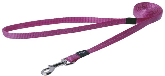 Поводок для собак Rogz Utility , цвет: розовый, ширина 1,1 см. Размер SHL14KВидимость ночью. Светоотражающая нить, вплетенная в нейлоновую ленту - для обеспечения лучшей видимости собаки в темное время суток. Специальная конструкция пряжки Rog Loc - очень крепкая (система Fort Knox). Замок может быть расстегнут только рукой человека. Технология распределения нагрузки позволяет снизить нагрузку на пряжки, изготовленные из титанового пластика, с помощью правильного и разумного расположения грузовых колец, благодаря чему, даже при самых сильных рывках, изделие не рвется и не деформируется.Выполненные специально по заказу ROGZ литые кольца гальванически хромированы, что позволяет избежать коррозии и потускнения изделия.