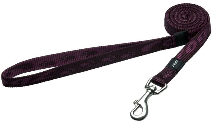 Поводок для собак Rogz Alpinist, цвет: фиолетовый, ширина 1,6 см. Размер MHL23EОсобо мягкая, но очень прочная лента обеспечит безопасность на прогулке даже самым активным собакам.Все соединения деталей имеют специальную дополнительную строчку для большей прочности. Выполненые специально по заказу ROGZ литые кольца гальванически хромированы, что позволяет избежать коррозии и потускнения изделия.