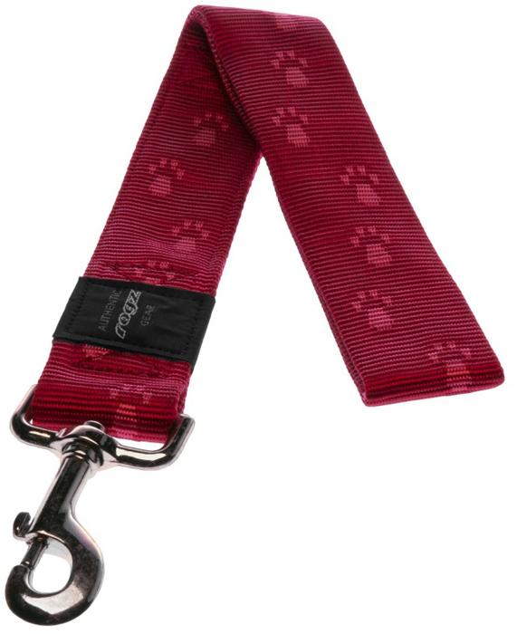 Поводок для собак Rogz Alpinist, цвет: красный, ширина 4 см. Размер XXLHL29CОсобо мягкая, но очень прочная лента обеспечит безопасность на прогулке даже самым активным собакам.Все соединения деталей имеют специальную дополнительную строчку для большей прочности. Выполненные специально по заказу ROGZ литые кольца гальванически хромированы, что позволяет избежать коррозии и потускнения изделия.