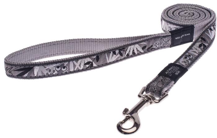 Поводок для собак Rogz Fancy Dress, удлиненный, цвет: серый, ширина 2 см. Размер LHLL03BSНеобычный дизайн. Широкая гамма потрясающе красивых орнаментов на прочной тесьме поверх нейлоновой ленты украсит Вашего питомца.Необыкновенно крепкий и прочный поводок.Выполненные по заказу литые кольца выдерживают значительные физические нагрузки и имеют хромирование, нанесенное гальваническим способом, что позволяет избежать коррозии и потускнения изделия.