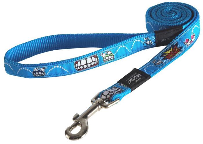 Поводок для собак Rogz Fancy Dress, удлиненный, цвет: голубой, ширина 2 см. Размер LHLL03BXНеобычный дизайн. Широкая гамма потрясающе красивых орнаментов на прочной тесьме поверх нейлоновой ленты украсит вашего питомца.Необыкновенно крепкий и прочный поводок.Выполненные по заказу литые кольца выдерживают значительные физические нагрузки и имеют хромирование, нанесенное гальваническим способом, что позволяет избежать коррозии и потускнения изделия.