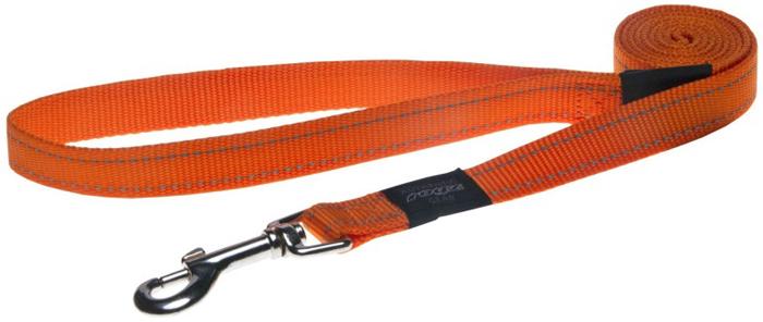Поводок для собак Rogz  Utility  , удлиненный, цвет: оранжевый, ширина 2,5 см. Размер XL - Товары для прогулки и дрессировки (амуниция)